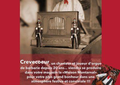 Crevecoeur : Chanteur et Joueur d'orgue de Barbarie